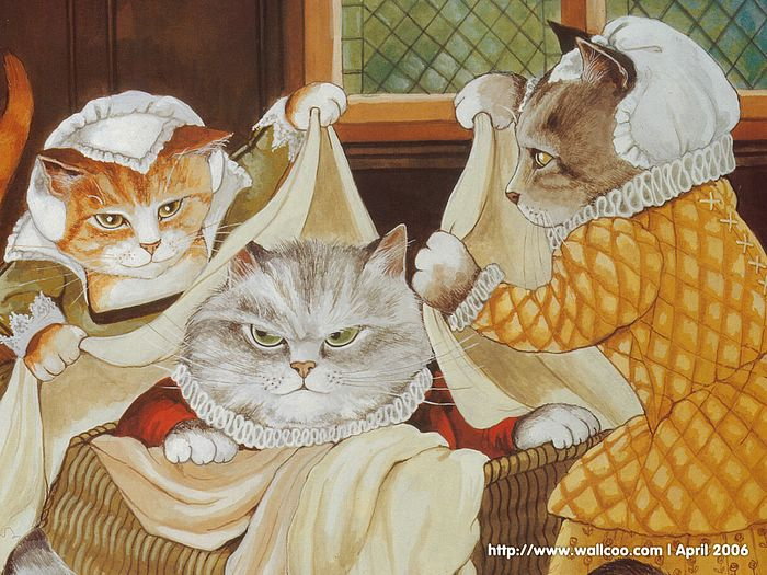 Shakespeare Cats : Cat Paintings by Susan Herbert  - Shakespeare Cats, Cats in Costume Playing Shakespearean Characters 3