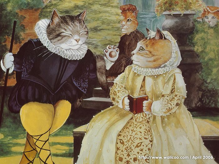 Shakespeare Cats : Cat Paintings by Susan Herbert  - Shakespeare Cats, Cats in Costume Playing Shakespearean Characters 5
