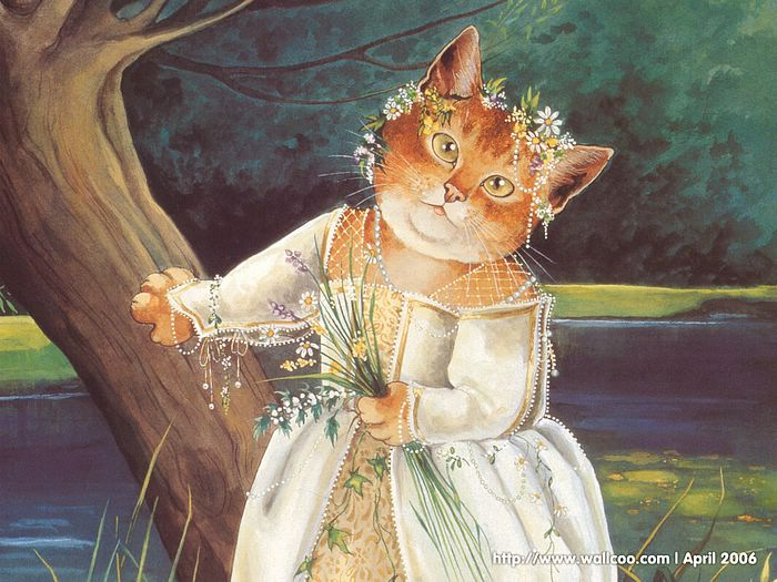 Shakespeare Cats : Cat Paintings by Susan Herbert  - Shakespeare Cats, Cats in Costume Playing Shakespearean Characters 1