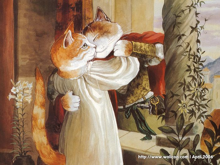 Shakespeare Cats : Cat Paintings by Susan Herbert  - Shakespeare Cats, Cats in Costume Playing Shakespearean Characters 12