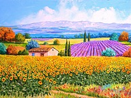 Dreamy Provence - Jean Marc Janiaczyk Landscape Paintings21 pics