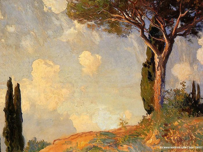 John singer sargent paintings a landscape study at san for John s painting