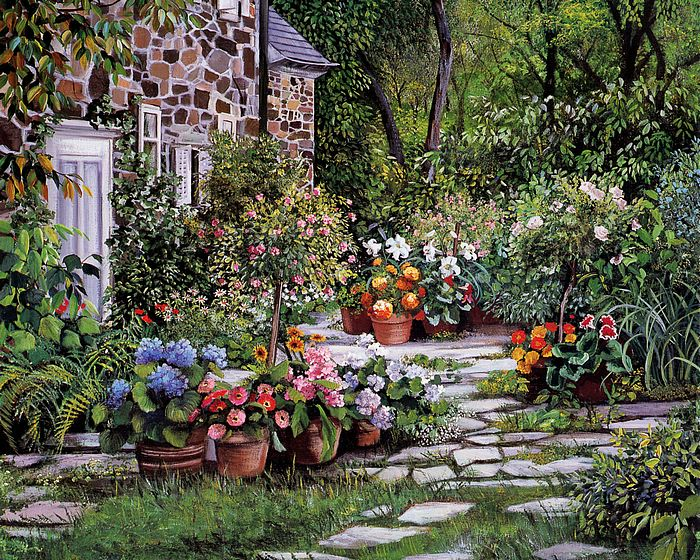 Magnificent Cottage Garden Paintings 700 x 560 · 190 kB · jpeg