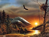 Terry Redlin Outdoor Themes Painting12 pics