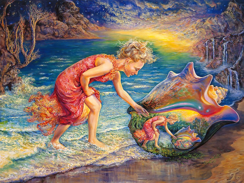 Art of imagination mystical fantasy paintings of josephine wall 1024x768 desktop - A beautiful painting on wall ...