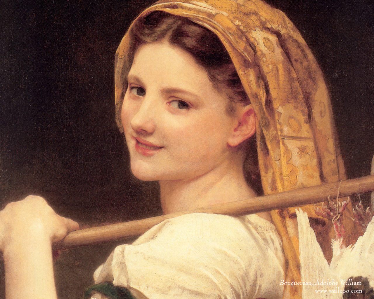 12801024 Art Wallpaper William Bouguereau Oil Painting Pictures NO