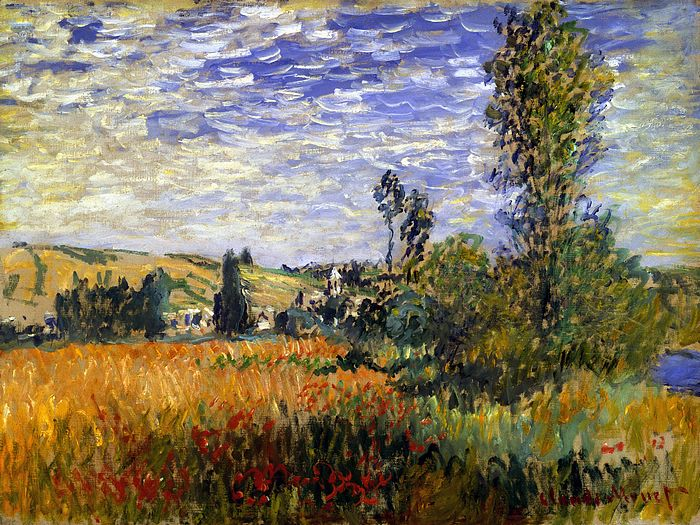 Impressionist painting : Claude Monet Paintings HD Wallpapers  - Claude Monet Painting : Landscape at Vetheuil, 1600*1200 16