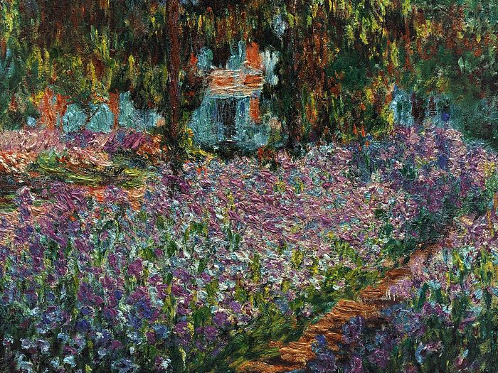 Impressionist painting : Claude Monet Paintings HD Wallpapers  - Claude Monet Painting : Le Jardin de Monet, les iris , Claude MONET 1900  28