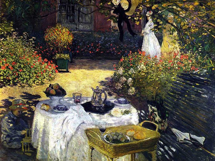 Impressionist painting : Claude Monet Paintings HD Wallpapers  - Claude Monet Painting : The Luncheon 1600*1200 1