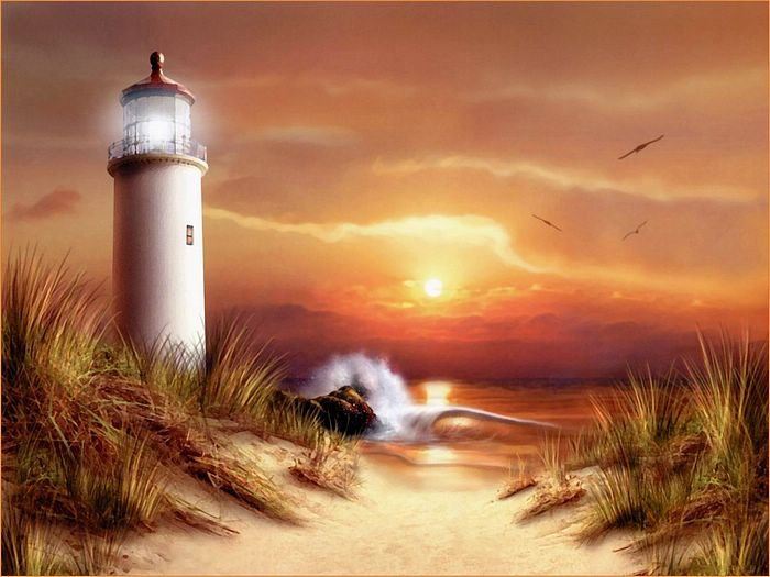 Beautiful Paintings Of Lighthouses
