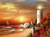 Lighthouse Paintings9 pics