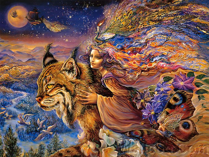 Fantazi Art... Mystical_fantasy_paintings_kb_Wall_Josephine-Flight_of_the_Lynx