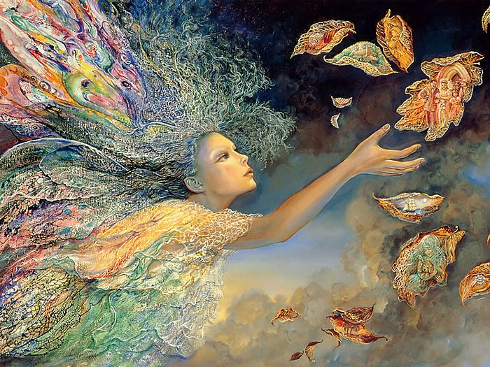 Catching Wishes   - Josephine Wall  Celestial Angles Wallpaper  3