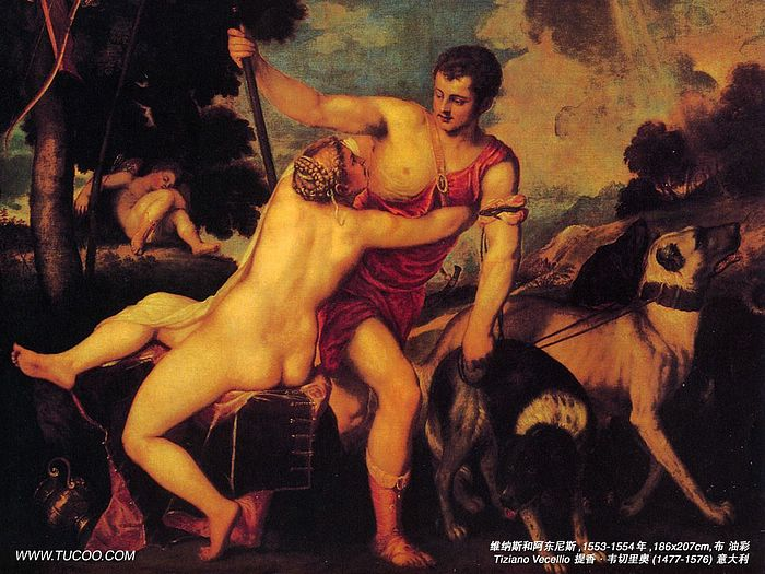 Titian Paintings Wallpapers - Titian Paintings   Venus and AdonisVenus And Adonis Titian