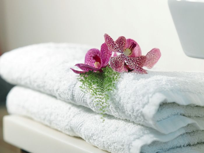 Bathroom Accessories Flowers and Towels Photos 16001200 2