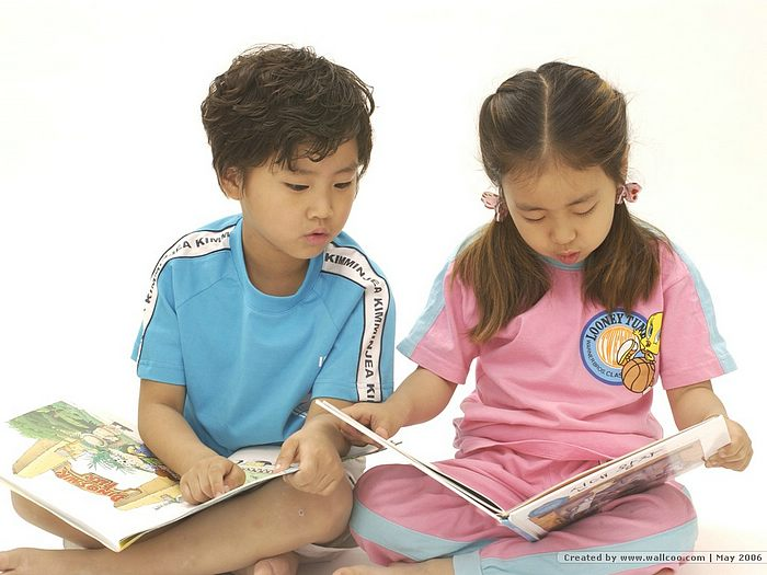 Free Photos of S Korean Children - Boy and Girl Reading Books 17