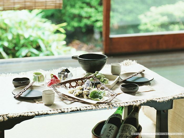 ... Porch in Summer  Japanese Food and Table Setting 1024*768 & Japanese Food u0026 Table Setting : Summer Cuisine - Wallcoo.net