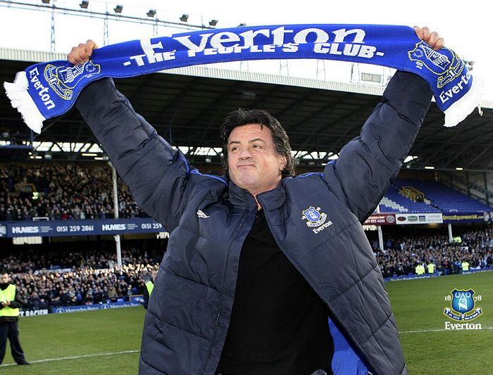 Everton FC : Sylvester Stalone At Goodison Park Photo 73