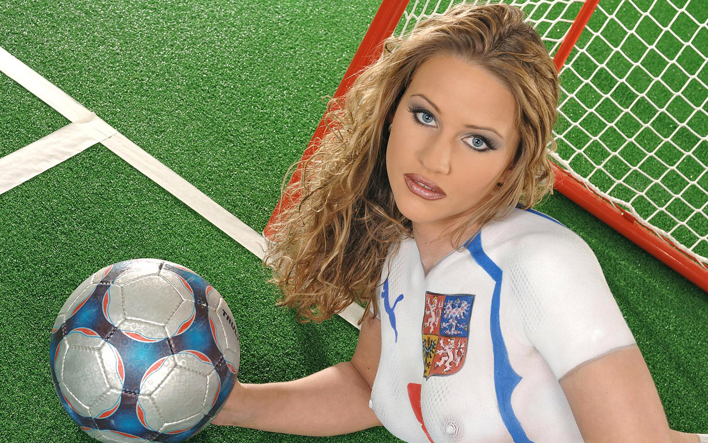 World Cup Babes - Body Painting Jersey1440*900 NO.9 Wallpaper